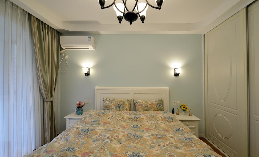 儿童房卧室床头整体衣柜设计效果图